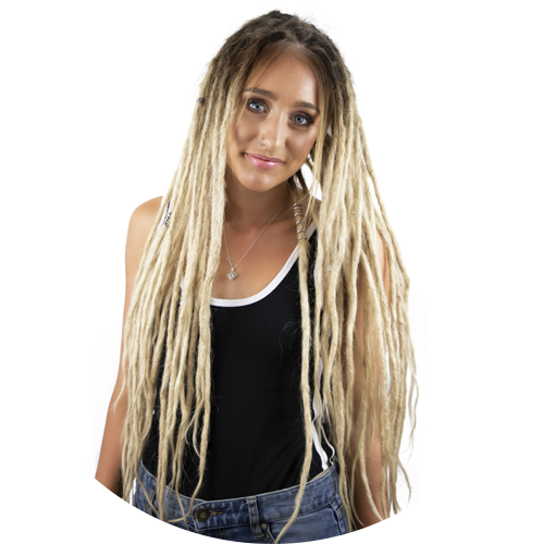 Real Dreads with extensions