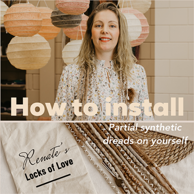 How to install Partial Synthetic Dreads on yourself